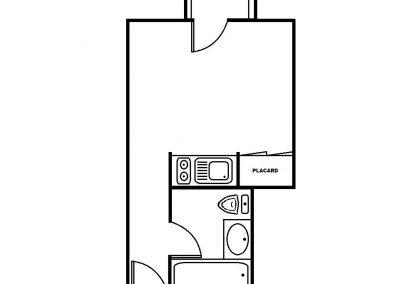 Plan Bissy 2 - 23 m² avec balcon