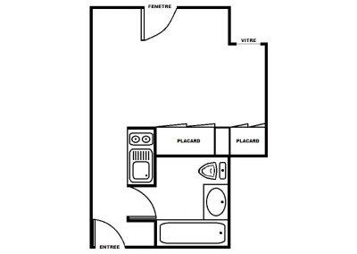 Plan Bissy 2 - 25 m²